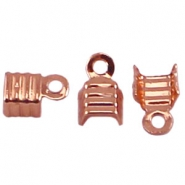 DQ veterklemmen 4 mm Rose gold plated