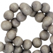 Houten kralen rond 8 mm Nature hout - Middle grey