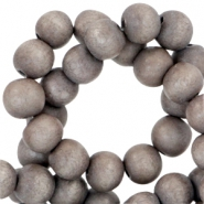 Houten kralen rond 6 mm Nature hout - Middle silver grey