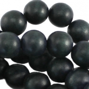 Nature hout rond 16 mm Dark jeans blue (donker blauw grijs)