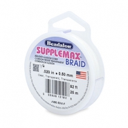 Beadalon rijgdraad Supplemax braided 0.50mm 25 meter Clear