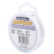 Beadalon rijgdraad DandyLine 0.15 mm White