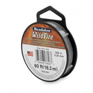 Beadalon Wildfire wire 0.20mm Grey
