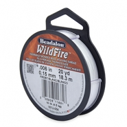 Beadalon Wildfire wire 0.15mm Frost white