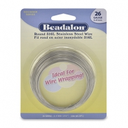 Beadalon wrapping wire stainless steel 26Gauge Bright Stainless Steel