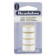 Beadalon Nymo wire 0.3mm 4-pack White