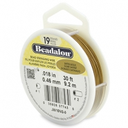 Beadalon Rijgdraad 19 draads 0.46mm Satin Gold