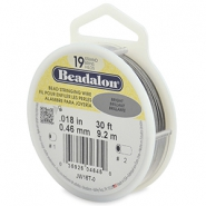 Beadalon Rijgdraad 19 draads 0.46mm Bright Stainless Steel