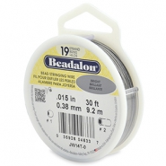Beadalon Rijgdraad 19 draads 0.38mm Bright Stainless Steel