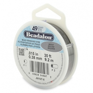 Beadalon Rijgdraad 49 draads 0.38mm Bright Stainless Steel
