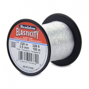 Beadalon elastiek rijgdraad 0.5mm 100 meter Clear
