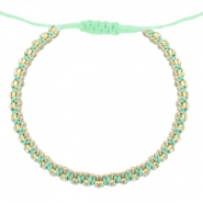 Trendy armbanden strass Light turquoise green-crystal