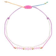 Trendy armbanden facet Multicolour-crystal white light gold