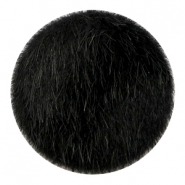 Faux fur cabochons 35mm Black