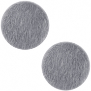 Faux fur cabochons 20mm Graphite grey