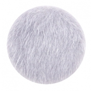 Faux fur cabochons 35mm Light grey