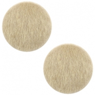 Faux fur cabochons 12mm Light brown