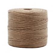 Nylon S-Lon draad 0.6mm Medium brown