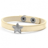 Trendy armbanden stud star Soft yellow gold