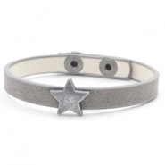 Trendy armbanden stud star Cloudy grey