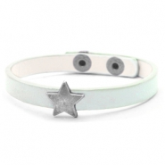 Trendy armbanden stud star Pastel turquoise green