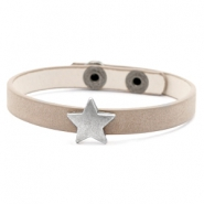 Trendy armbanden stud star Country brown