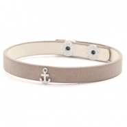 Trendy armbanden stud anchor Country brown