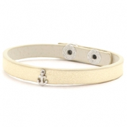 Trendy armbanden stud anchor Soft yellow gold