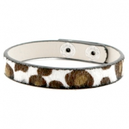 Trendy armbanden leopard Off white