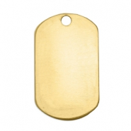 ImpressArt stamp labels naamplaatje 32x19mm Brass Licht goud
