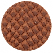 DQ leer cabochons 35mm Chestnut Brown