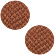 DQ leer cabochons 12mm Chestnut Brown