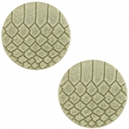 DQ leer cabochons 12mm Willow green
