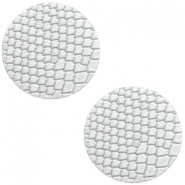 DQ leer cabochons 20mm Star white