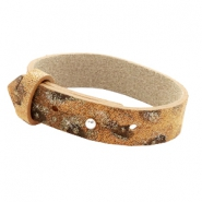 Cuoio armbanden leer 15 mm voor 20 mm cabochon Amber brown Panther