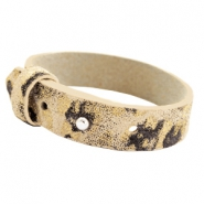 Cuoio armbanden leer 15 mm voor 20 mm cabochon Mellow buff beige Panther