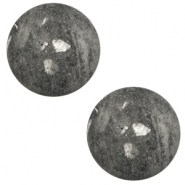 12 mm classic cabochon Polaris Elements Rockstar Anthracite grey
