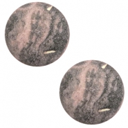 20 mm classic cabochon Polaris Elements Rockstar Powder pink-grey