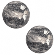 20 mm classic cabochon Polaris Elements Rockstar Cream white-grey