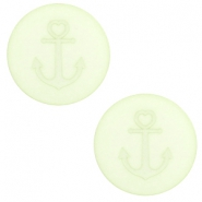 12 mm platte cabochon Polaris Elements Anchor Relaxing green