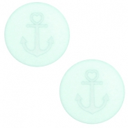 12 mm platte cabochon Polaris Elements Anchor Gossamer green