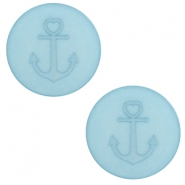 12 mm platte cabochon Polaris Elements Anchor Eton blue