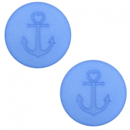 12 mm platte cabochon Polaris Elements Anchor River blue