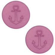 12 mm platte cabochon Polaris Elements Anchor Light mauve purple