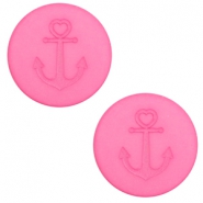 12 mm platte cabochon Polaris Elements Anchor Peonia pink
