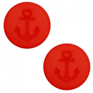 12 mm platte cabochon Polaris Elements Anchor Candy red