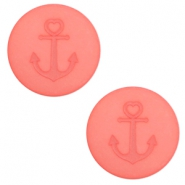 12 mm platte cabochon Polaris Elements Anchor Salmon rose