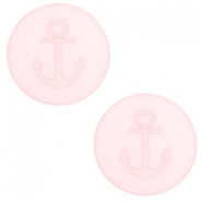 12 mm platte cabochon Polaris Elements Anchor Whisper pink