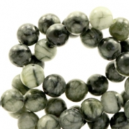 4 mm natuursteen kralen rond greenstone Dark green