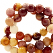 Half edelsteen kralen rond 8mm calcite orange Mixed colours brown